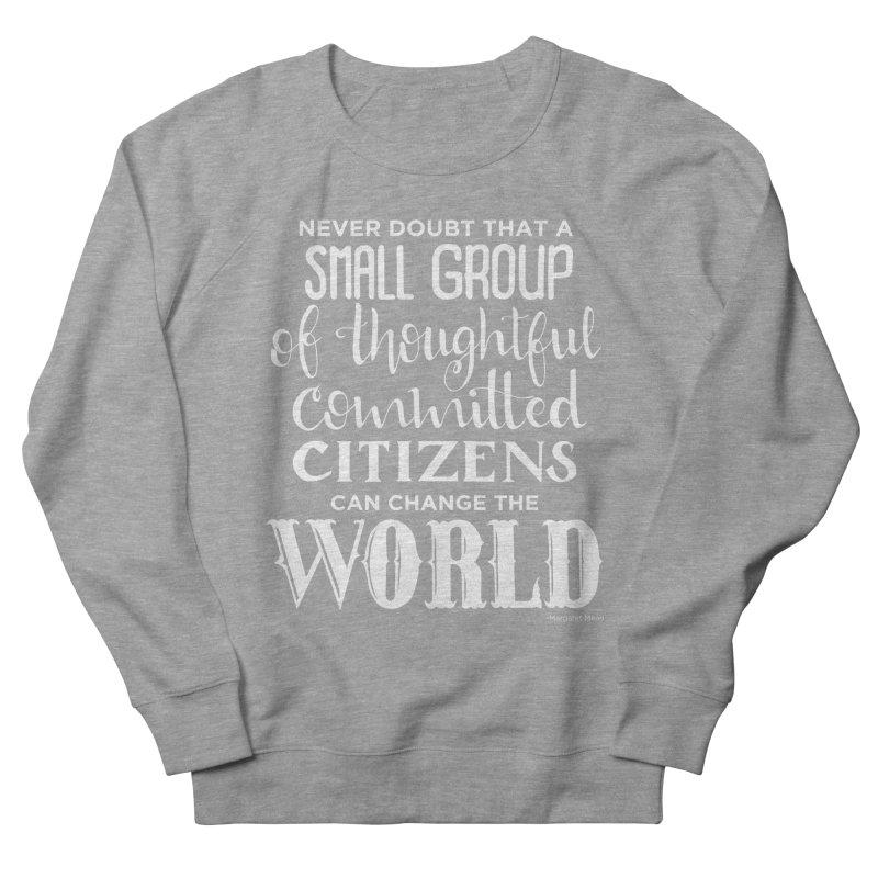 Change the world - white version Women's French Terry Sweatshirt by Andrea Garrido V - Shop