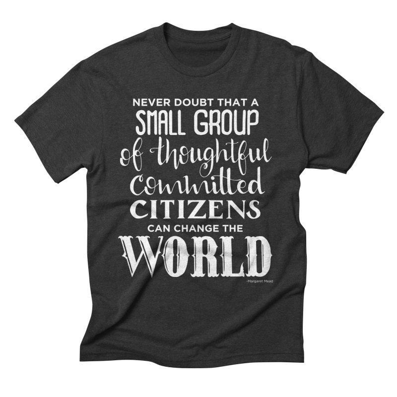 Change the world - white version Men's Triblend T-Shirt by Andrea Garrido V - Shop