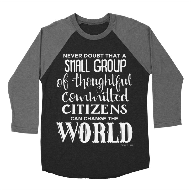 Change the world - white version Women's Baseball Triblend Longsleeve T-Shirt by Andrea Garrido V - Shop