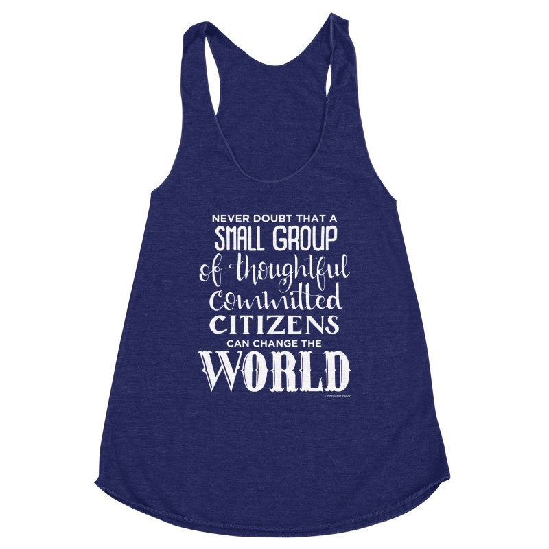 Change the world - white version Women's Tank by Andrea Garrido V - Shop