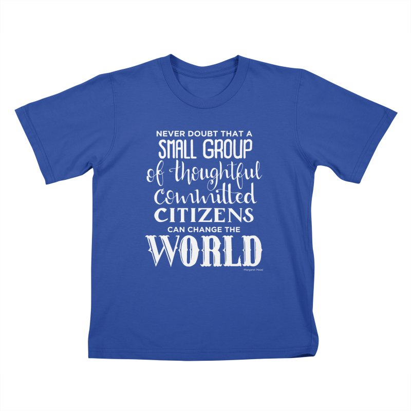 Change the world - white version Kids T-Shirt by Andrea Garrido V - Shop