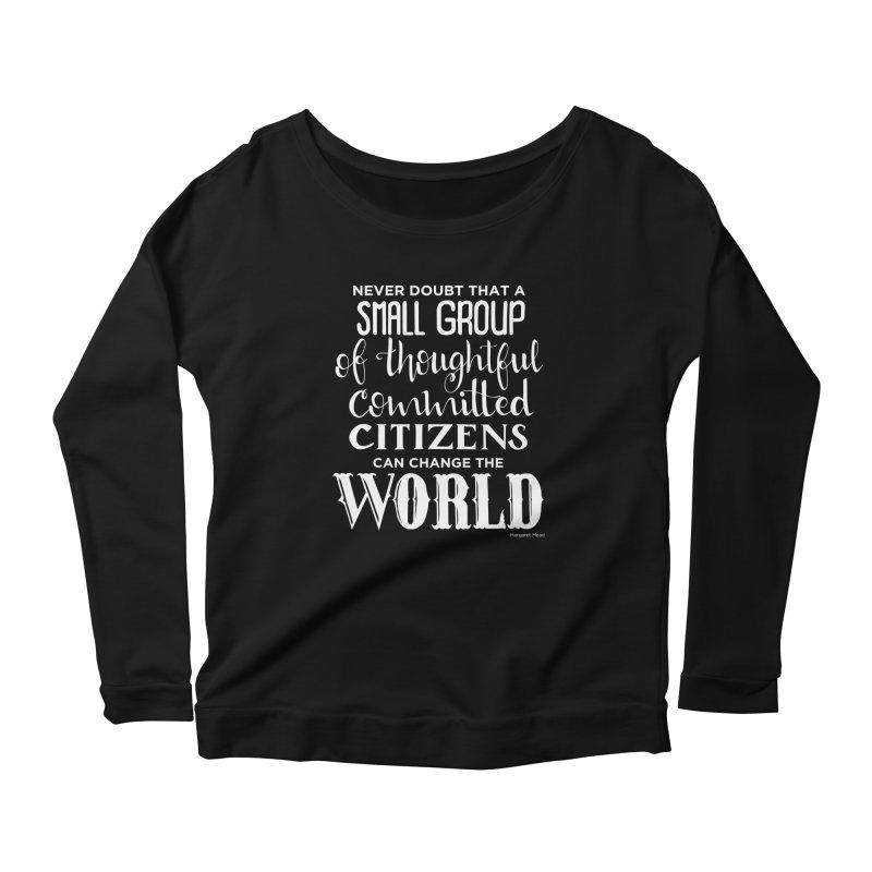 Change the world - white version Women's Scoop Neck Longsleeve T-Shirt by Andrea Garrido V - Shop