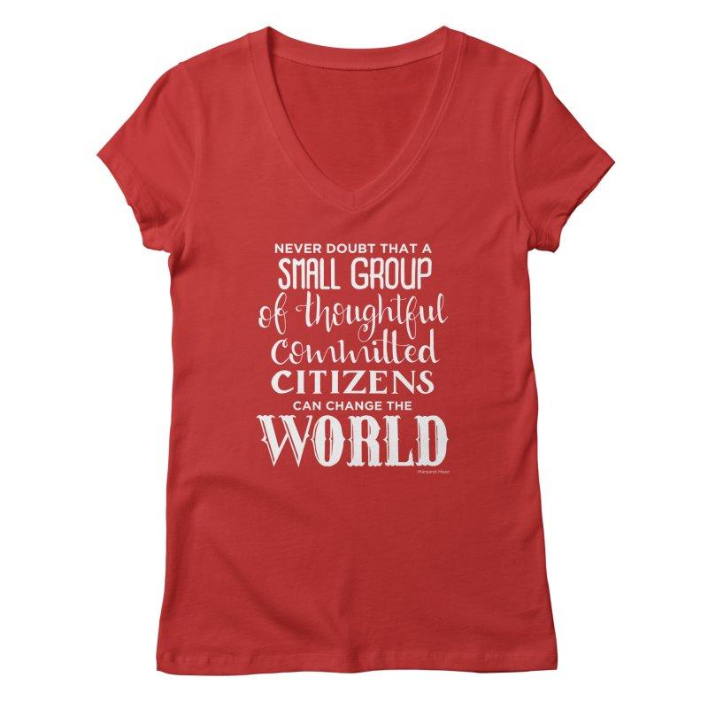 Change the world - white version Women's Regular V-Neck by Andrea Garrido V - Shop