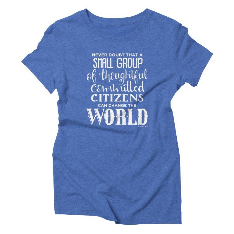 Change the world - white version Women's Triblend T-Shirt by Andrea Garrido V - Shop