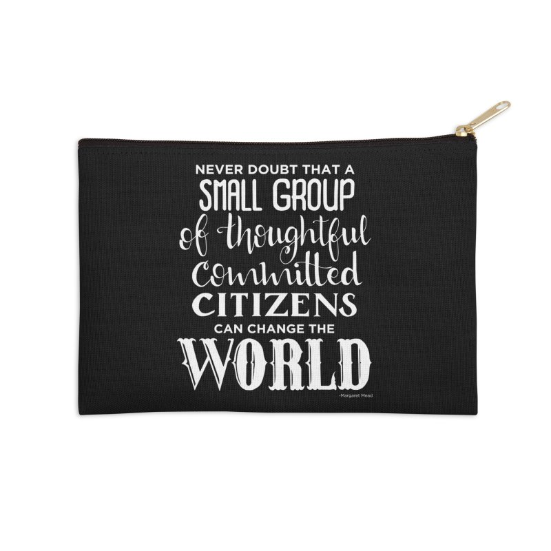 Change the world - white version Accessories Zip Pouch by Andrea Garrido V - Shop