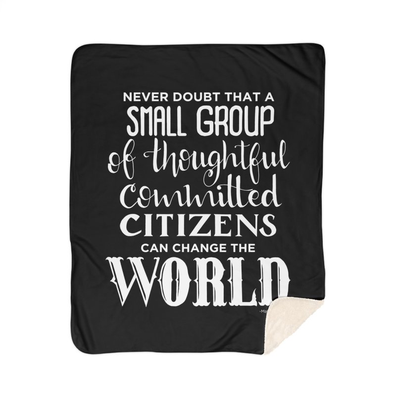 Change the world - white version Home Blanket by Andrea Garrido V - Shop