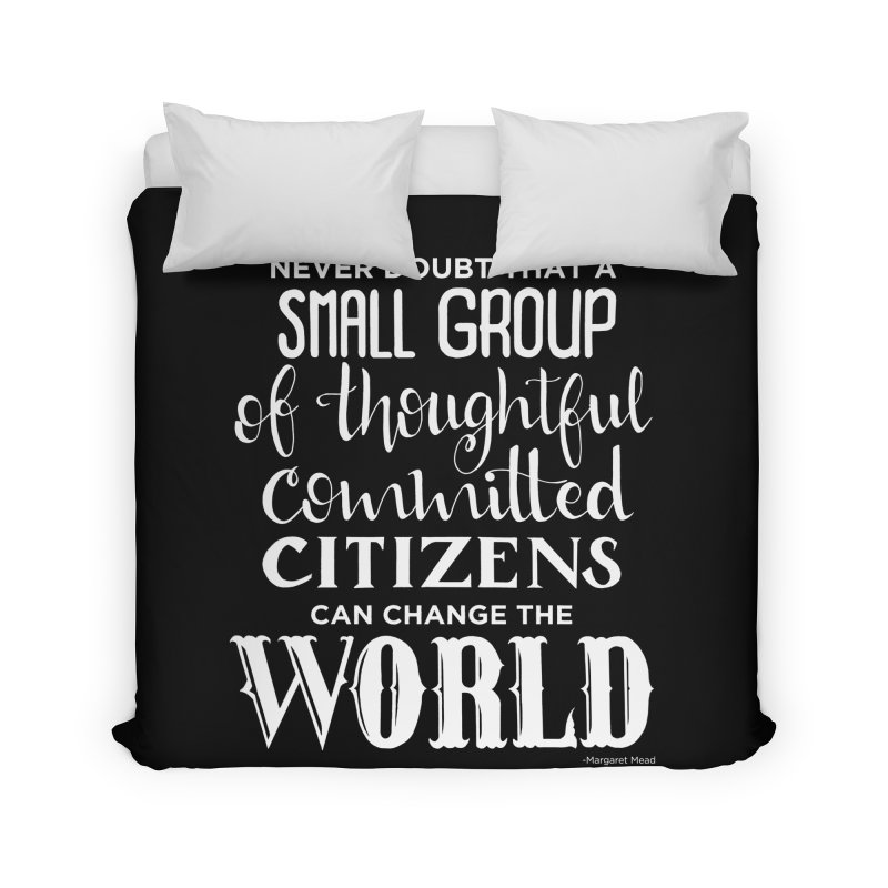 Change the world - white version Home Duvet by Andrea Garrido V - Shop