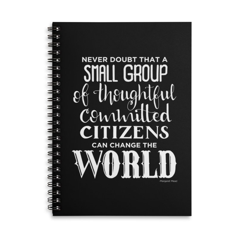 Change the world - white version Accessories Lined Spiral Notebook by Andrea Garrido V - Shop