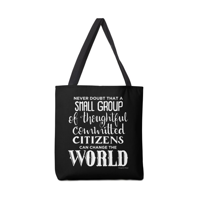 Change the world - white version Accessories Tote Bag Bag by Andrea Garrido V - Shop