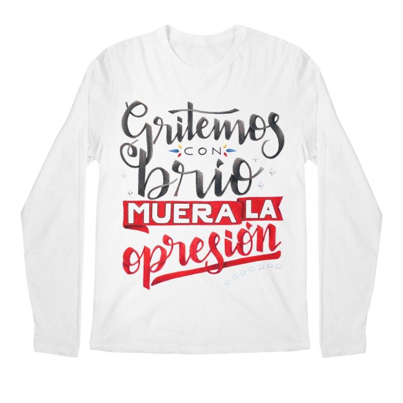 Gritemos con brío muera la opresión Men's Regular Longsleeve T-Shirt by Andrea Garrido V - Shop