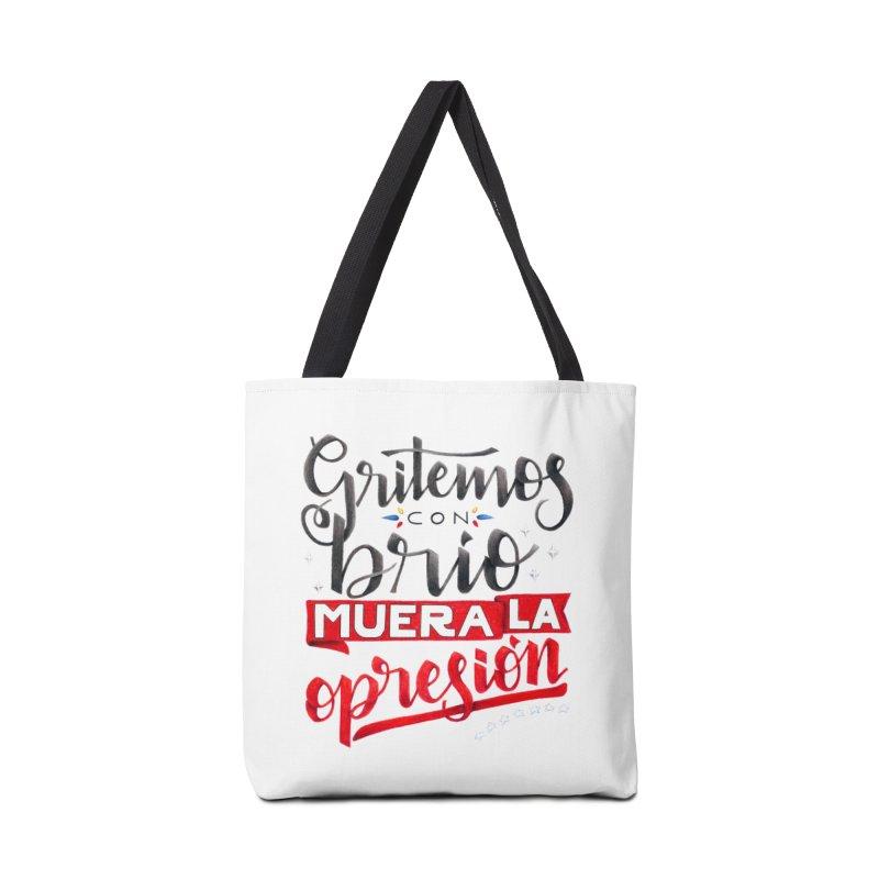 Gritemos con brío muera la opresión Accessories Tote Bag Bag by Andrea Garrido V - Shop