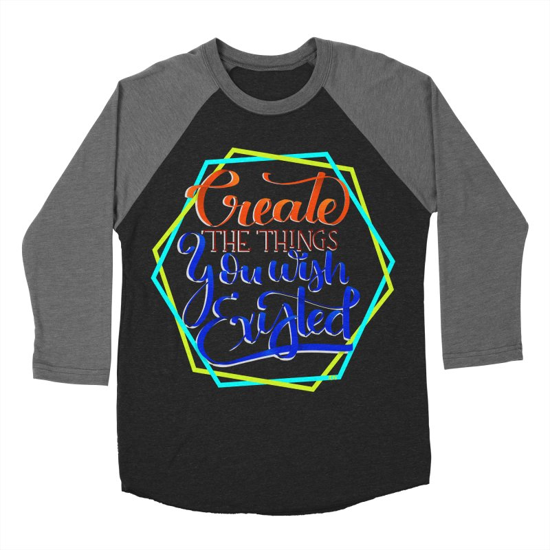 Create the things you wish existed Men's Baseball Triblend Longsleeve T-Shirt by Andrea Garrido V - Shop