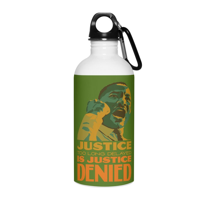 Justice delayed is justice denied Accessories Water Bottle by Andrea Garrido V - Shop