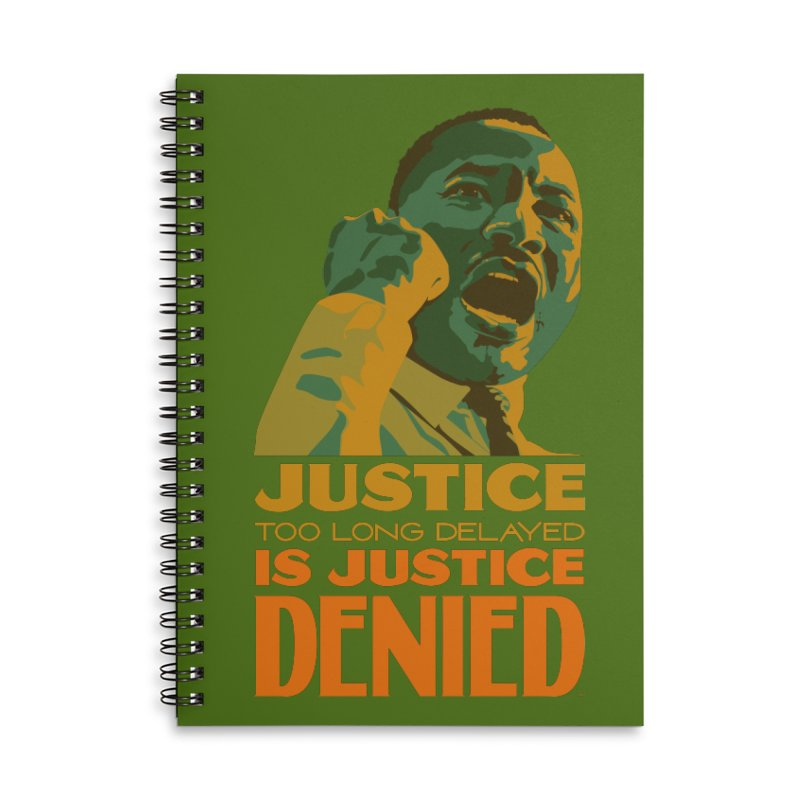 Justice delayed is justice denied Accessories Lined Spiral Notebook by Andrea Garrido V - Shop