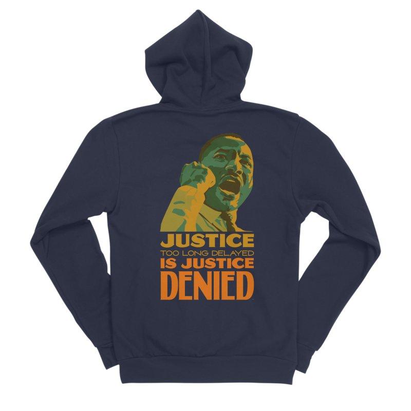 Justice delayed is justice denied Women's Sponge Fleece Zip-Up Hoody by Andrea Garrido V - Shop