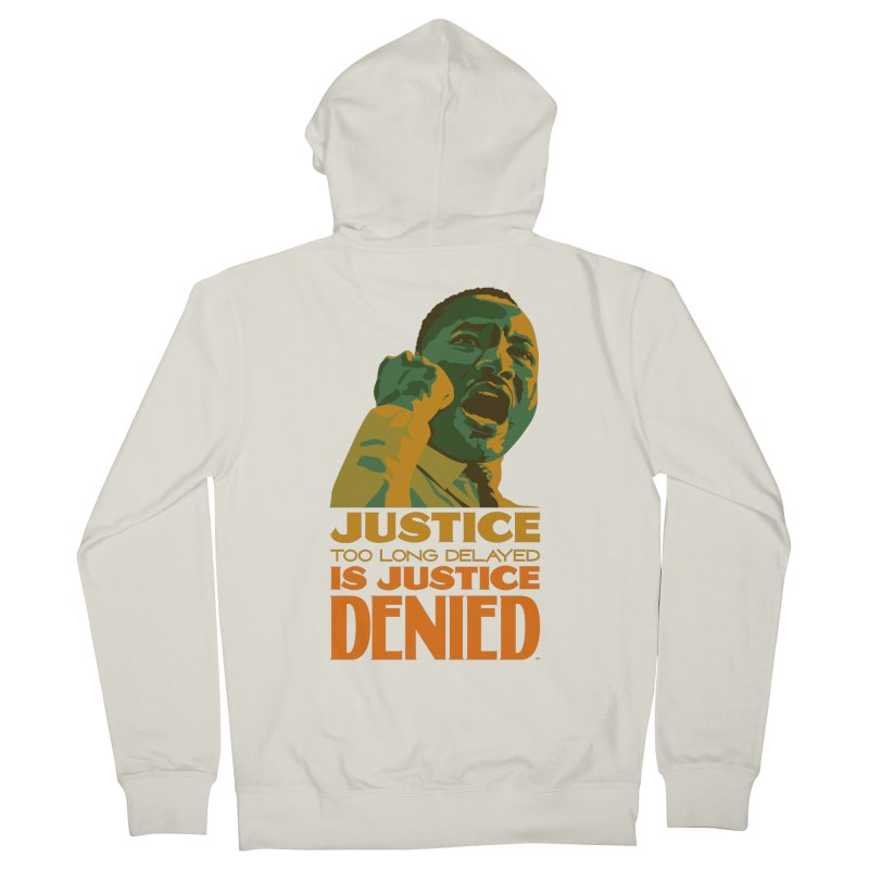 Justice delayed is justice denied Women's French Terry Zip-Up Hoody by Andrea Garrido V - Shop