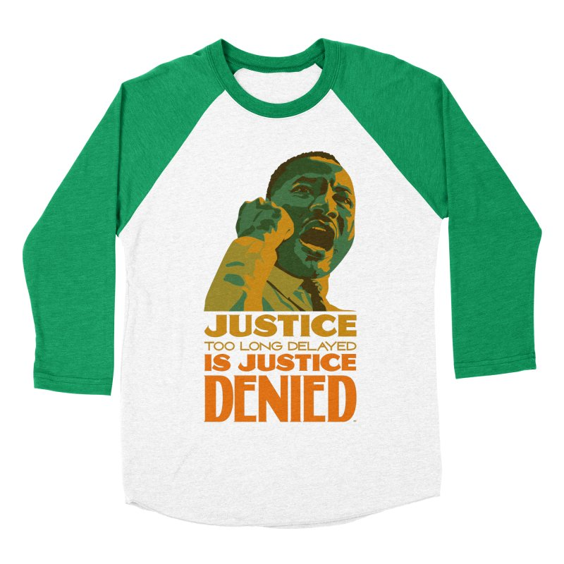 Justice delayed is justice denied Women's Baseball Triblend Longsleeve T-Shirt by Andrea Garrido V - Shop