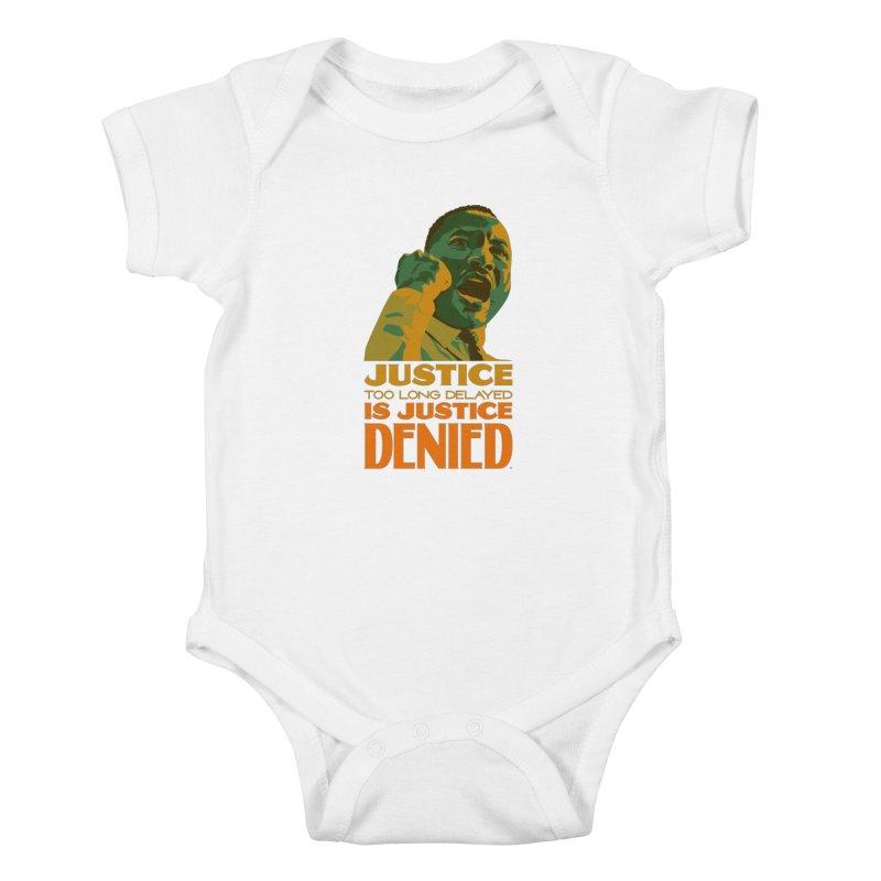 Justice delayed is justice denied Kids Baby Bodysuit by Andrea Garrido V - Shop