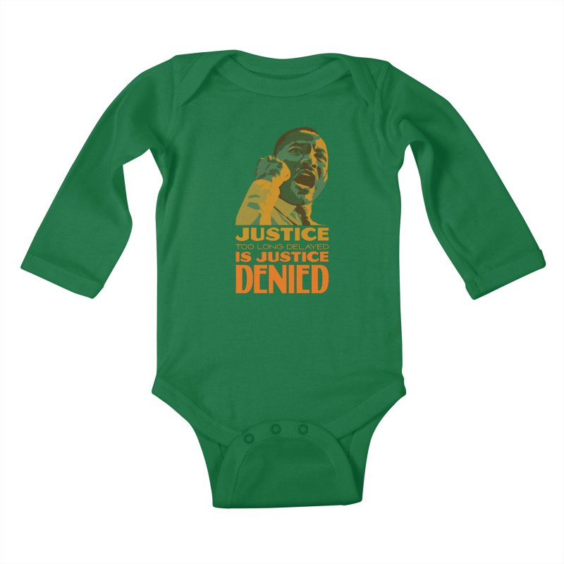Justice delayed is justice denied Kids Baby Longsleeve Bodysuit by Andrea Garrido V - Shop