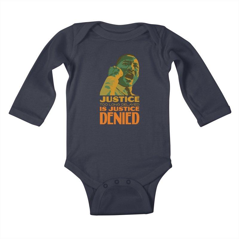 Justice delayed is justice denied Kids Baby Longsleeve Bodysuit by Andrea Garrido V - Shop