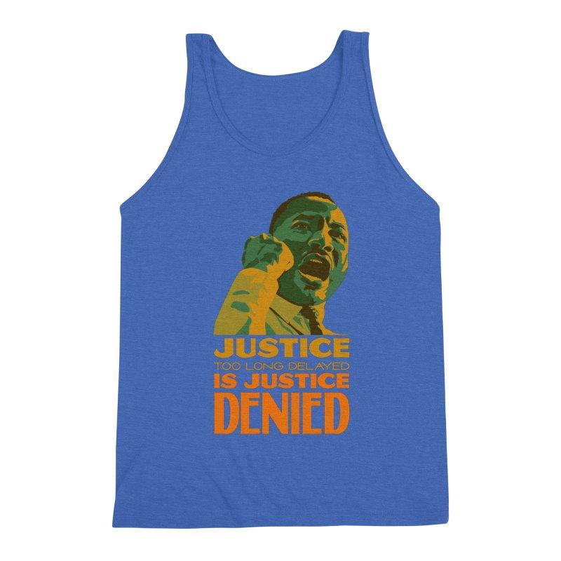 Justice delayed is justice denied Men's Triblend Tank by Andrea Garrido V - Shop