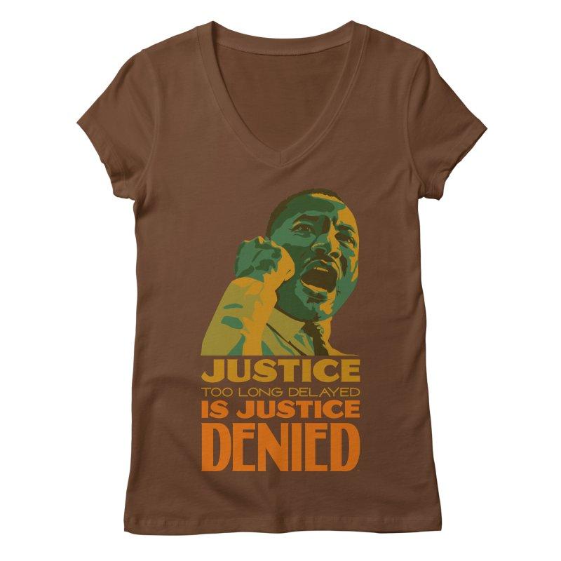 Justice delayed is justice denied Women's Regular V-Neck by Andrea Garrido V - Shop