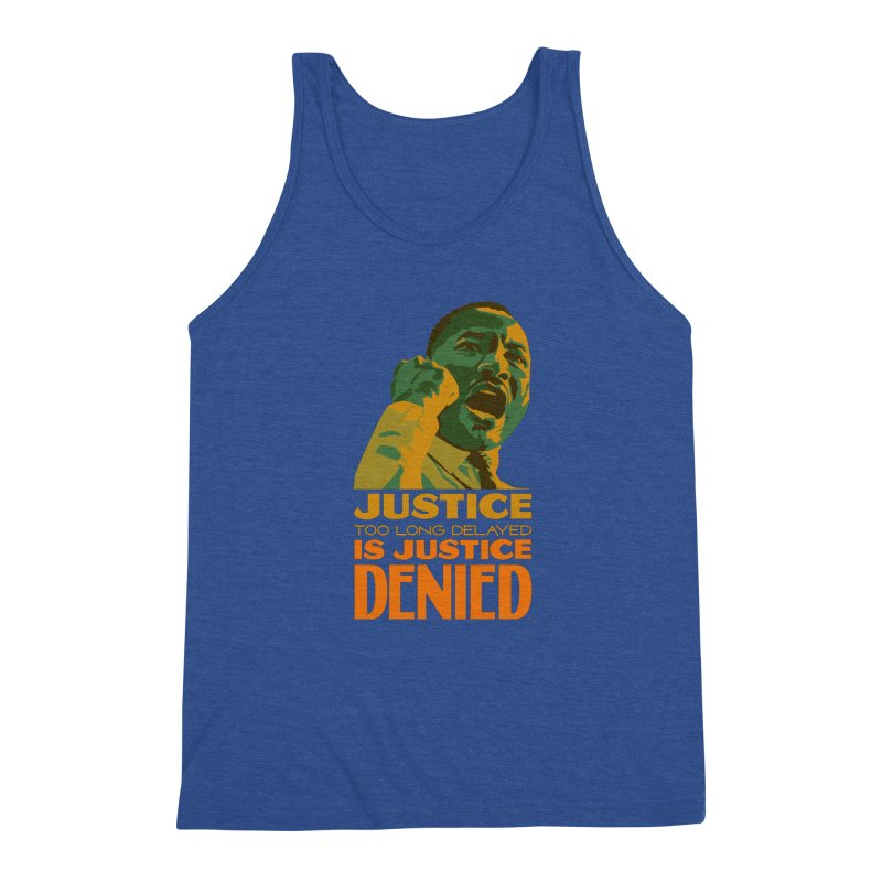 Justice delayed is justice denied Men's Tank by Andrea Garrido V - Shop