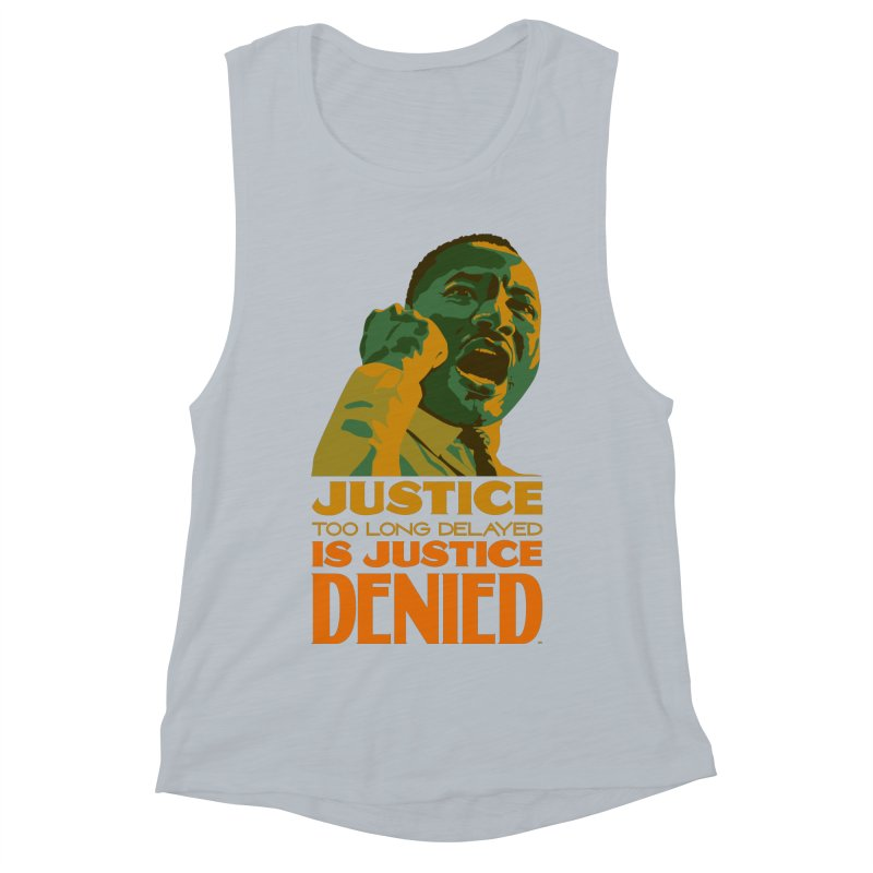 Justice delayed is justice denied Women's Muscle Tank by Andrea Garrido V - Shop