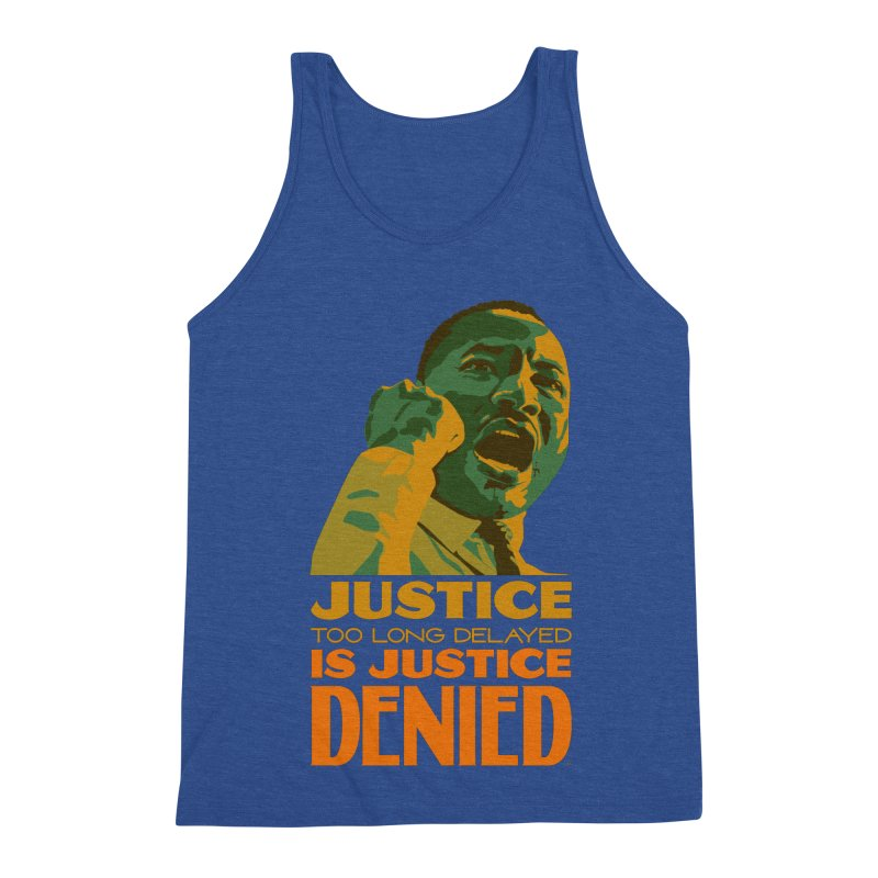 Justice delayed is justice denied Men's Triblend Tank by Andrea Garrido V - Shop