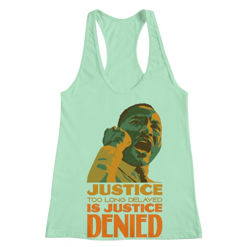 Justice delayed is justice denied Women's Racerback Tank by Andrea Garrido V - Shop