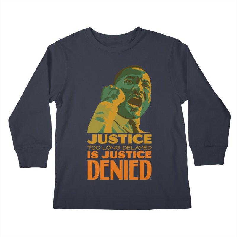 Justice delayed is justice denied Kids Longsleeve T-Shirt by Andrea Garrido V - Shop