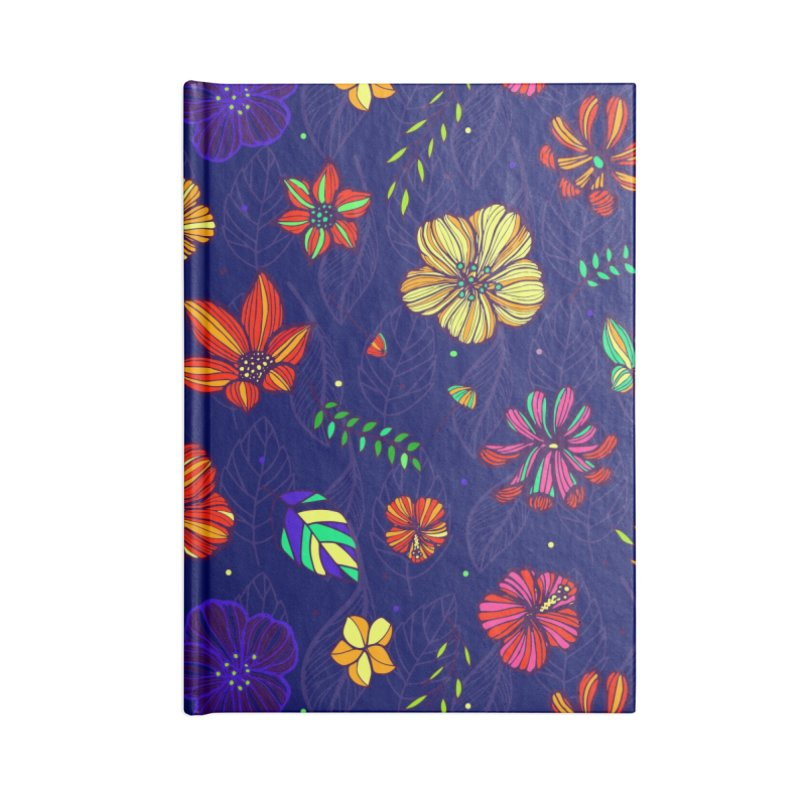 Flower-me Accessories Lined Journal Notebook by Andrea Garrido V - Shop