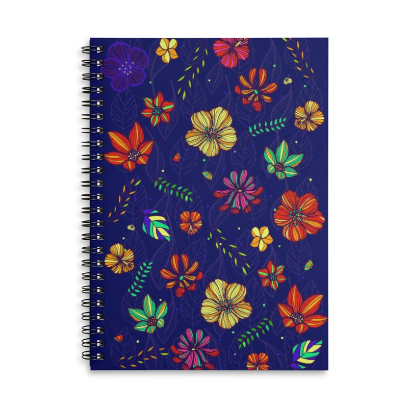 Flower-me Accessories Lined Spiral Notebook by Andrea Garrido V - Shop