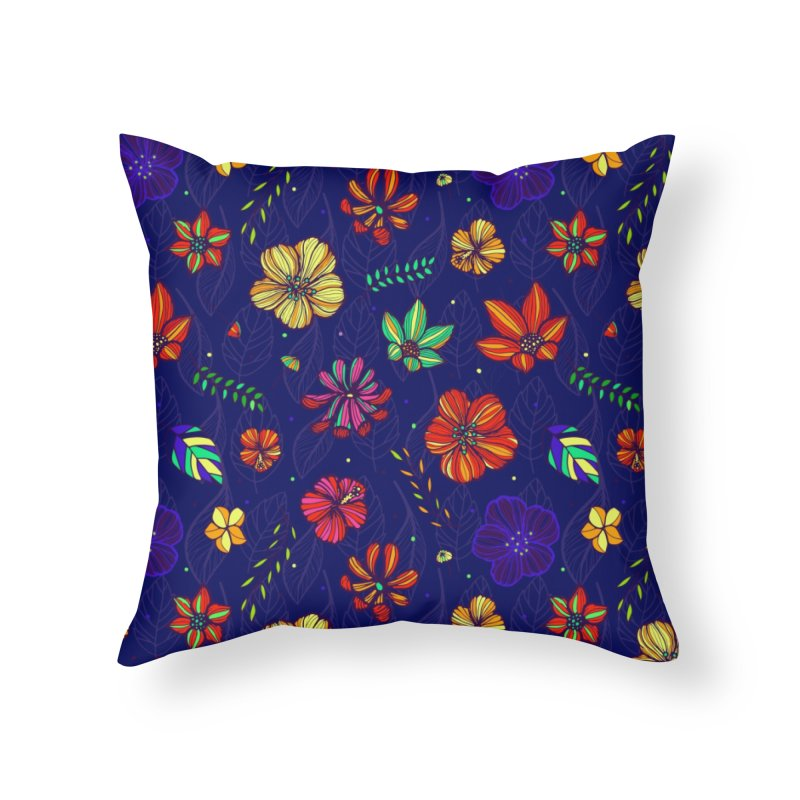 Flower-me tropical Home Throw Pillow by Andrea Garrido V - Shop