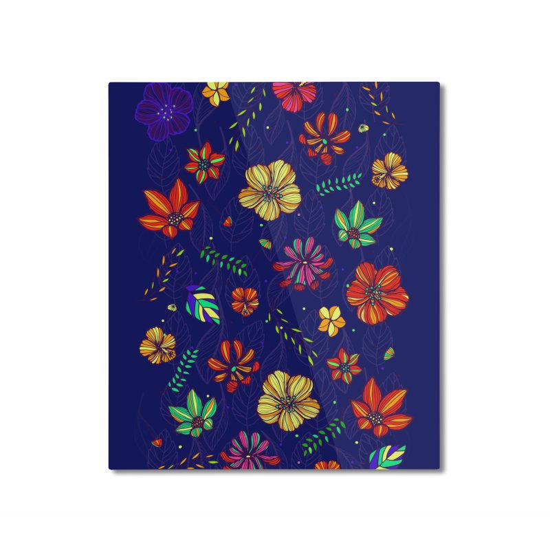 Flower-me Home Mounted Aluminum Print by Andrea Garrido V - Shop