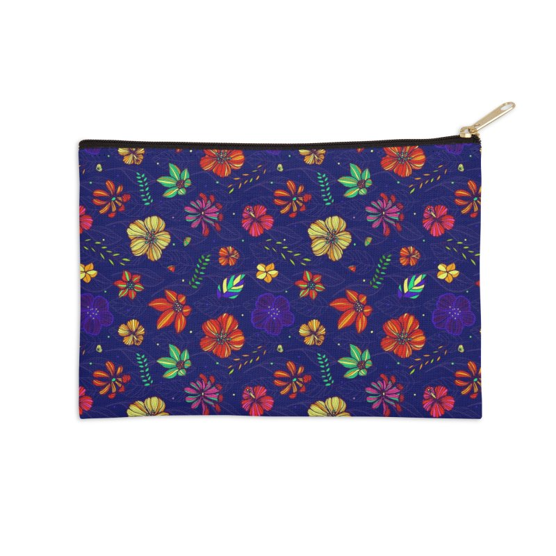 Flower-me tropical Accessories Zip Pouch by Andrea Garrido V - Shop