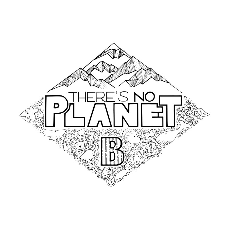 There is no planet B climate change - black version Women's Zip-Up Hoody by Andrea Garrido V - Shop