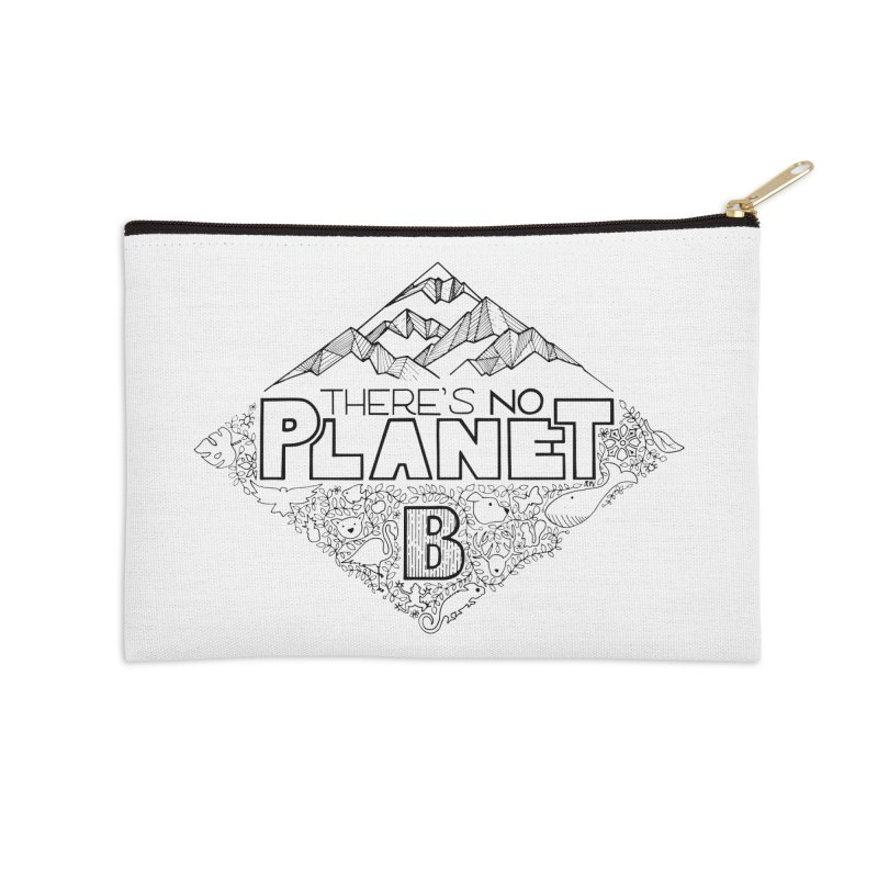 There is no planet B climate change - black version Accessories Zip Pouch by Andrea Garrido V - Shop
