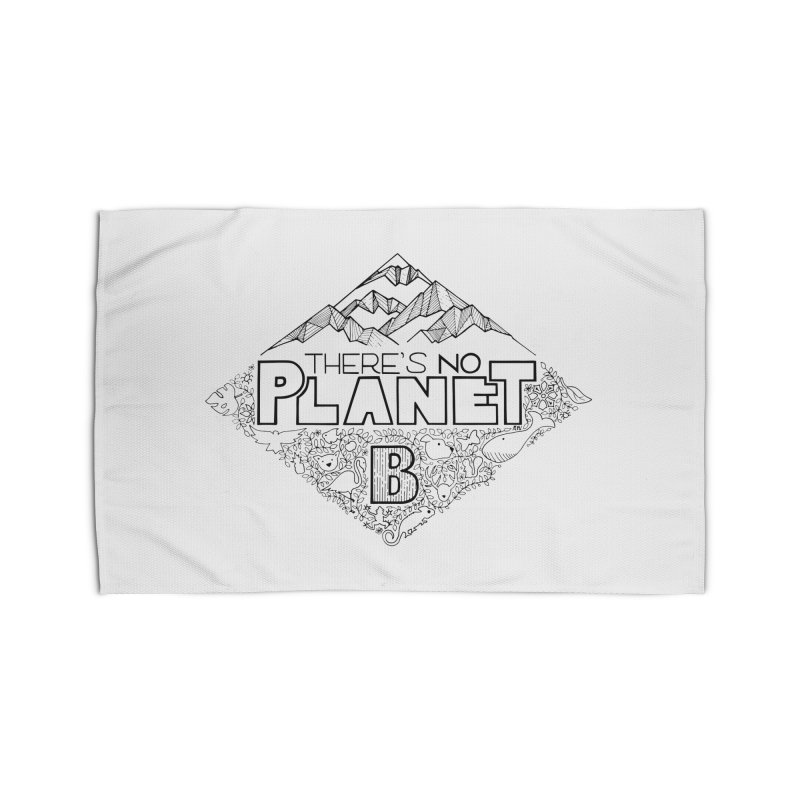 There is no planet B climate change - black version Home Rug by Andrea Garrido V - Shop