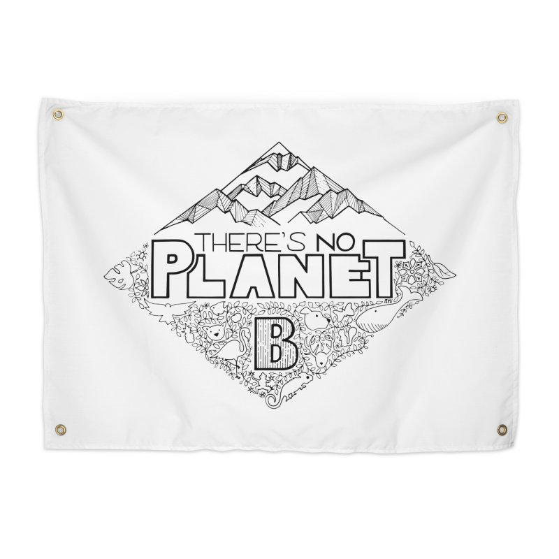 There is no planet B climate change - black version Home Tapestry by Andrea Garrido V - Shop