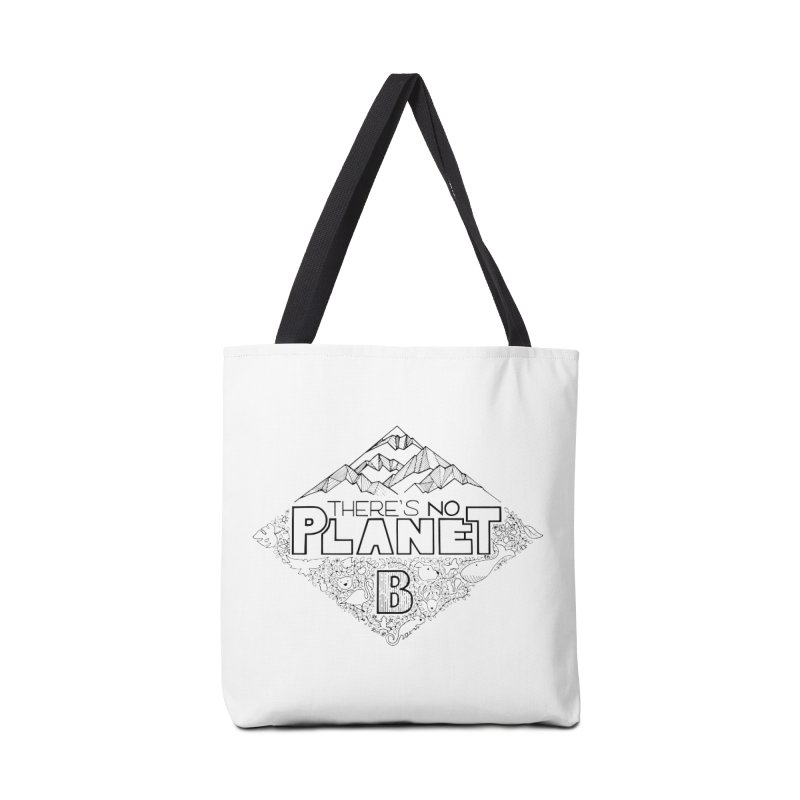 There is no planet B climate change - black version Accessories Tote Bag Bag by Andrea Garrido V - Shop