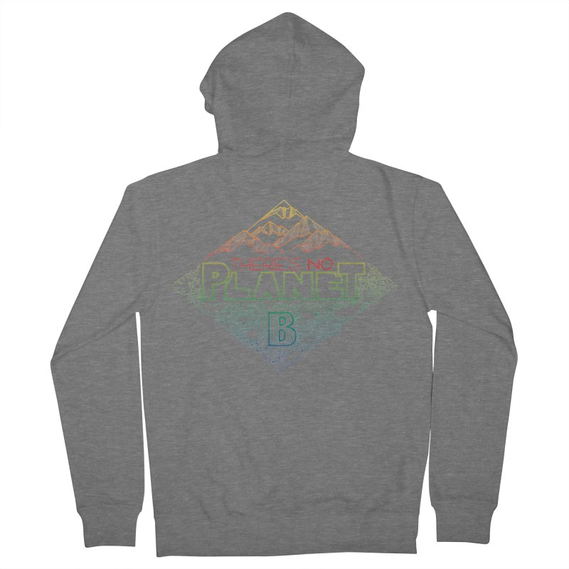 There is no planet B - color version Men's French Terry Zip-Up Hoody by Andrea Garrido V - Shop
