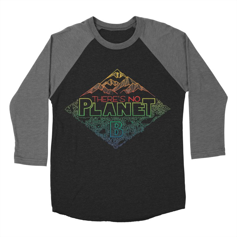 There is no planet B - color version Men's Baseball Triblend Longsleeve T-Shirt by Andrea Garrido V - Shop