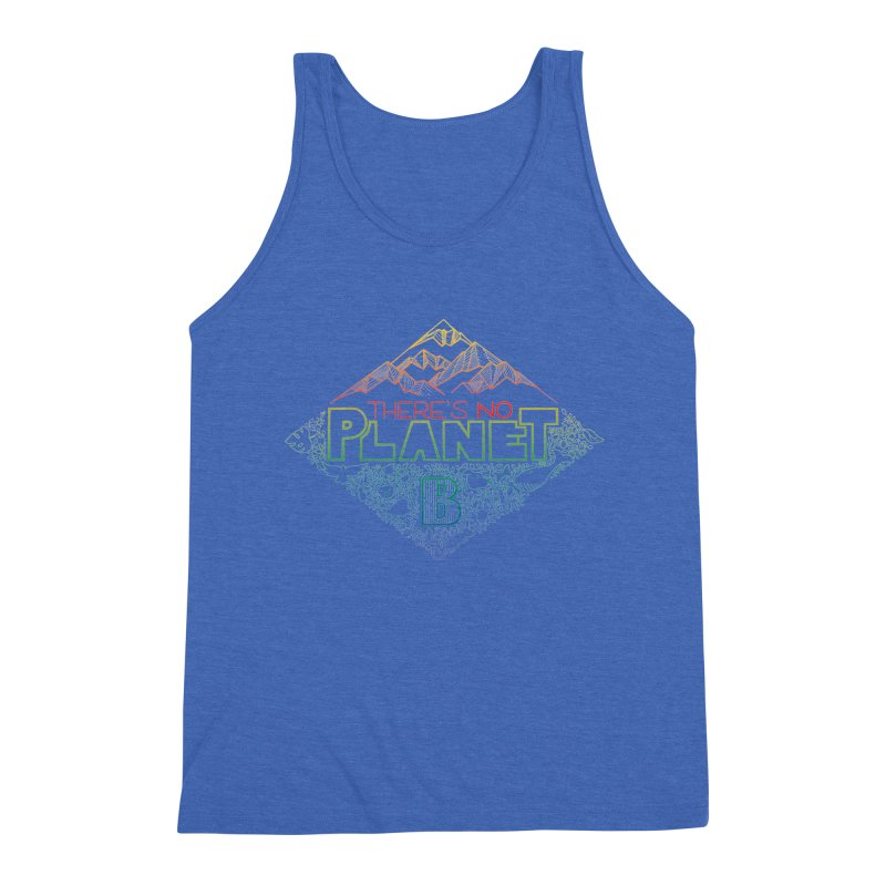 There is no planet B - color version Men's Triblend Tank by Andrea Garrido V - Shop