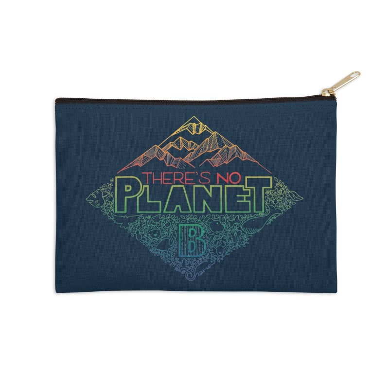 There is no planet B - color version Accessories Zip Pouch by Andrea Garrido V - Shop