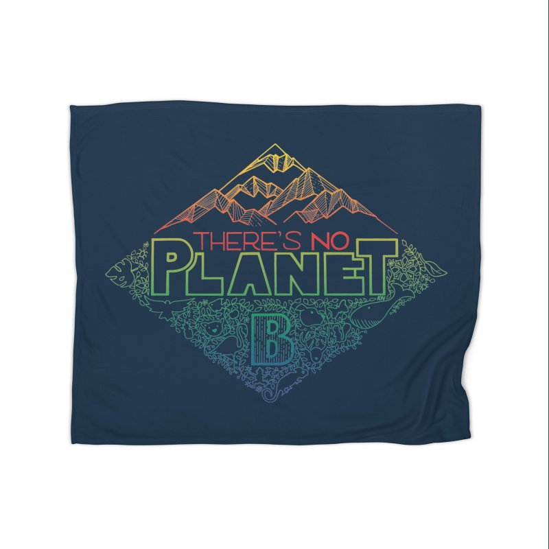There is no planet B - color version Home Fleece Blanket Blanket by Andrea Garrido V - Shop