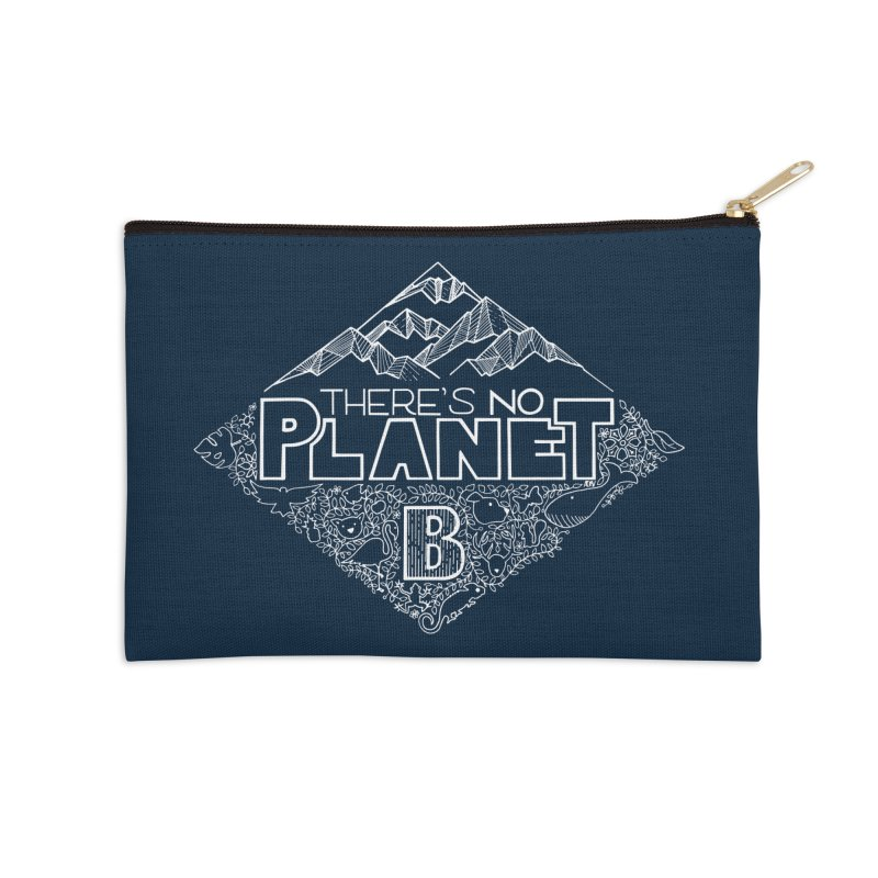There's no planet B - white version Accessories Zip Pouch by Andrea Garrido V - Shop