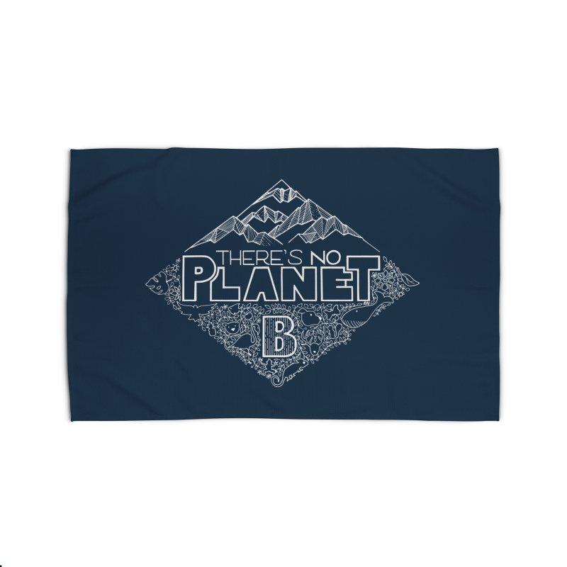 There's no planet B - white version Home Rug by Andrea Garrido V - Shop