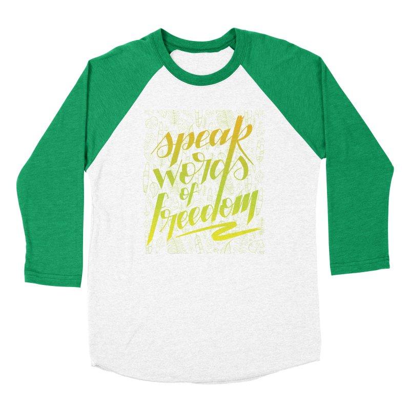 Speak words of freedom - green version Men's Longsleeve T-Shirt by Andrea Garrido V - Shop