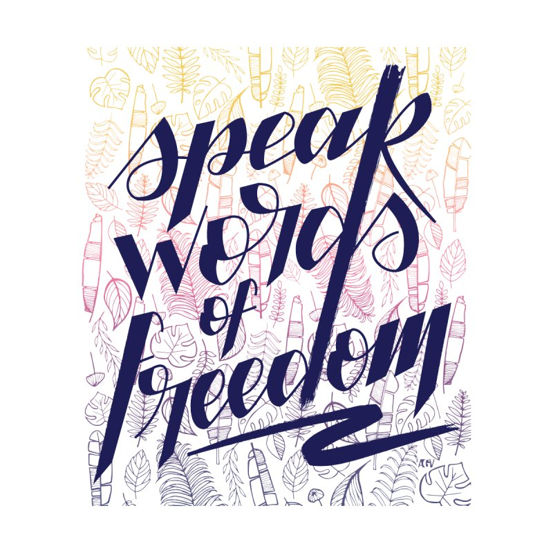 Speak words of freedom - blue version Men's T-Shirt by Andrea Garrido V - Shop